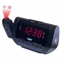 Rádio-relógio Digital Projetor De Horas, Carregador Usb Naxa