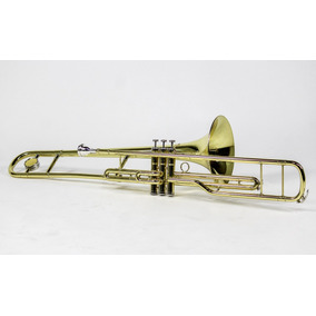 Trombone Pisto Curto Dó C Custom Strauss Laqueado
