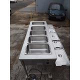 Balcão Banho Maria Industrial De Aço Inox #4053