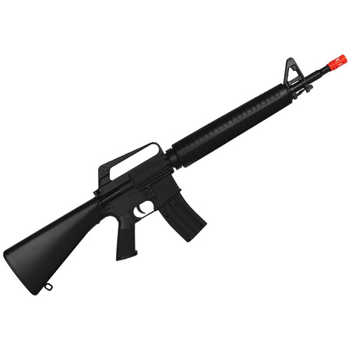Rifle Airsoft Spring / Mola M16a1 6mm Preto
