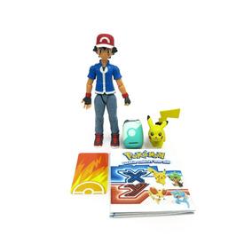 Pokemon Boneco Treinador Ash E Mini Pikachu Pronta Entrega