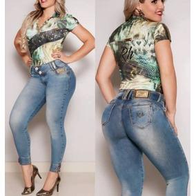 Calça Rhero Jeans Com Elastano E Bojo Removível.