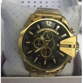 24b00bc901e Relógio Dourado  149 - Relógio Diesel Masculino no Mercado Livre Brasil