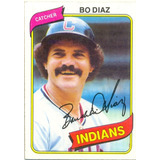 Barajita Baudilio Diaz Indians Topps 1980 # 483