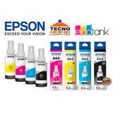Tinta Epson Original 664 Y 504 (l380, L355; L4150,l4160)