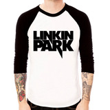 Camisa Blusa Raglan 3/4 Rock Linkin Park