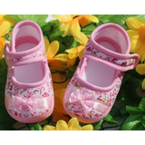 Kit 2 Pares Sapatinho Bebê Menina Floral Super Macio