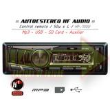 Estereo Hf-100u Control Remoto Usb, Mp3, Sdcard, Auxiliar
