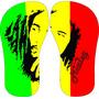 Chinelo Personalizado Tema Bob Marley Jamaica Reagge