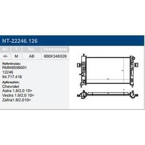 Radiador Astra Vectra Zafira 1.8/2.0 10/ C/ar Mecanico
