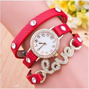 Relógio Feminino Estilo Bracelete Love Frete Grátis