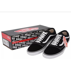Tênis Vans Old Skool Preto Branco Rosa Skatista Ft Original