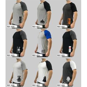 Camiseta Masculina Raglan Original T-shirt Camisa Blusa Slim