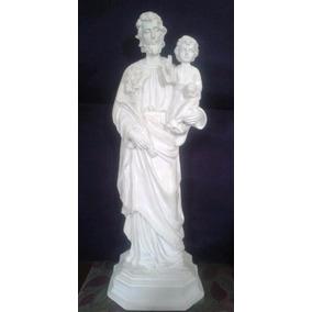 Imagem De São José Com 80cm Em Pó De Mármore Escultura