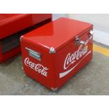 Hielera Coca Cola Metálica , Pintura Horneada,
