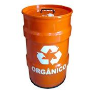 Lixeira Tambor Decorativo Lixo Reciclável Tonel - Orgânico