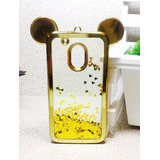 Capinha Capa Case Moto G4 Play Mickey Minnie Aquario Glitter