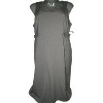 Vestido Plus Gris Formal Talla 24 Extragrande P-gordita
