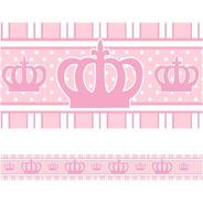 Faixa De Parede Adesivo Infantil Quarto Princesa Coroa