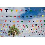 76 Banderines 30m Fiestas Eventos Auto Lavado Concesionarios