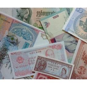 Lote 10 Billetes 10 Países Asia Sin Circular Envío Gratis