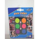 Pintura Flúo Para Cara,petaca De 6 Colores