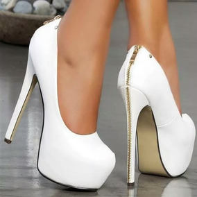 Sapato Plataforma Salto Alto Fino Importado Numero 32 / 43