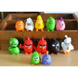 Set Angry Birds 12 Figuras Duras Los De La Pelicula