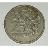Trinidad Y Tobago Moneda 25 Centavos 1977 *063