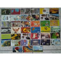 Cartão Telefônico Com 80 Unidades Raros E Usados