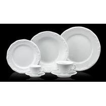 Jogo Jantar Chá E Café 42 Pçs Porcelana Schmidt Bco Pomerode