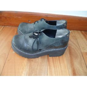 Zapato Con Plataforma Talle 36 Marca Viento & Marea