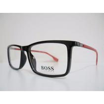 Armação Óculos De Grau Hugo Boss 0419 Leve Moderna Titanium