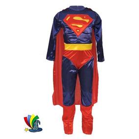 Disfraz Superman Niño Super Heroe Musculoso Talla 8
