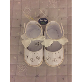 Zapatos Bebe Niña First Steps Blanco 11cm *envio Gratis*