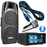 Combo Sala De Ensayos P/ Bandas Y Karaoke Consola Pot+bafle
