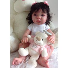 Bebê Reborn Para O Natal Menina Inteira De Silicone