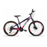 Bicicleta Aro 26 Vikingx X25 21v Index Freio A Disco Pto-ros