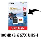 Memoria Micro Sdxc Sandisk Extreme 100mb 32gb U3 C10 Gopro