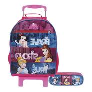 Kit Mochila G Princesas Disney 30394+estojo Princesas 30389