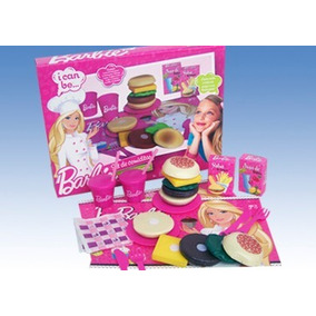 Set De Comidas Hamburguesas Barbie Miniplay Art.136
