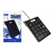 Teclado Numérico Preto Com Fio Usb Notebook Kp-2003a Knup -