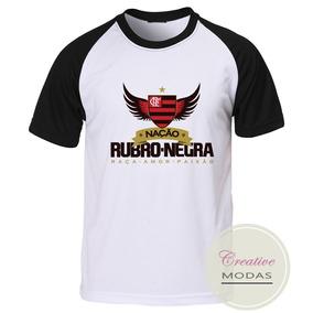 Camisa Camiseta Raglan Flamengo Nação Rubro-negra