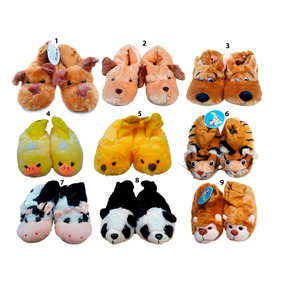 Pantuflas De Animales Niños P032 Por Mayor Y Menor Capital