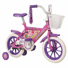 Bicicleta Rodado 12 Halley Stark 6055 Nena Canasto Rueditas