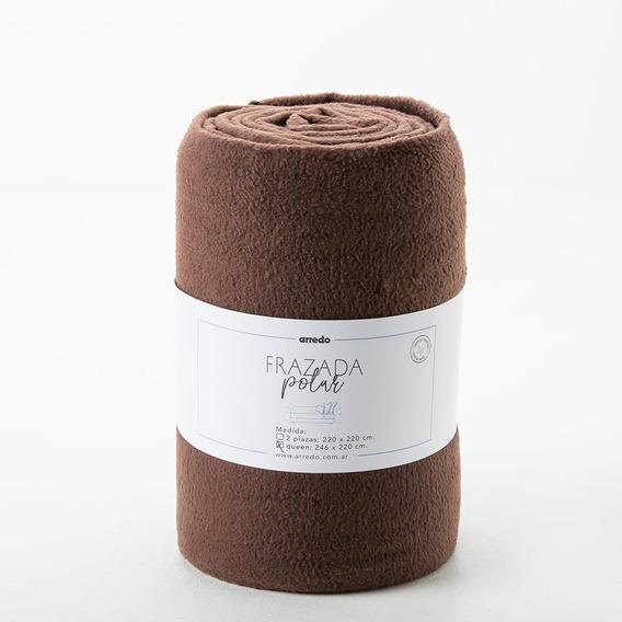Frazada Queen Size Arredo Polar Lisa - Color Marrón