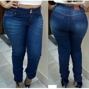 Calças Jeans Feminina , Levanta Modela Bum Bum Plus Size