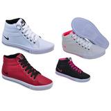 Kit 4 Pares Botinhas Nike Cano Alto Feminino Frete Grátis!!!