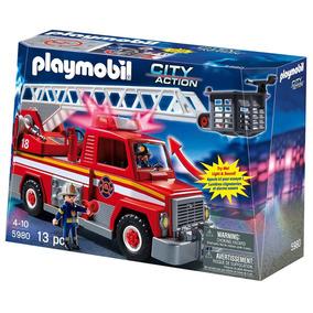 Playmobil 5682 Camion De Bomberos Jugueteria Bunny Toys