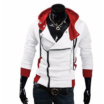 Jaqueta Capuz Assassins Creed Capuz Masculino Cosplay